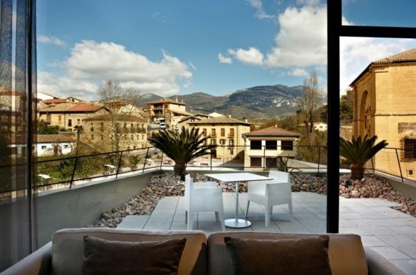 Spanisches Hotel Viura designhouses privat terrasse