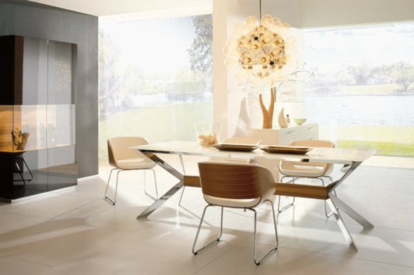 berlegen wohn und esszimmer modern kombinierter essbereich, Modern Dekoo