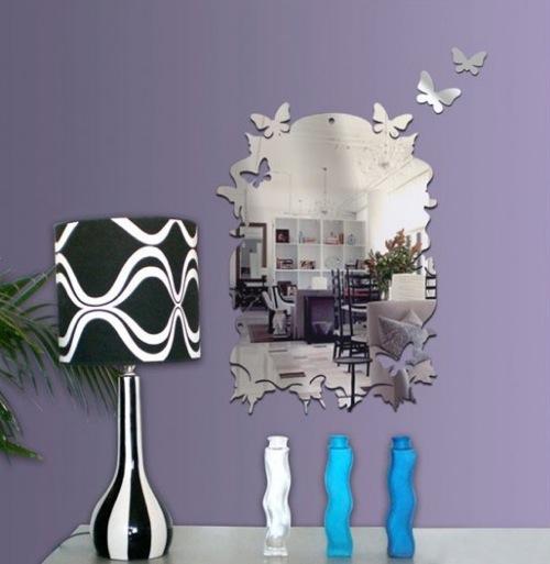 spiegel schmetterlinge elegant wand tonka design
