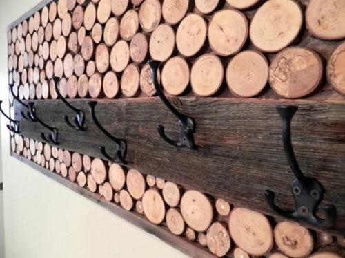 ständer mütze wood chip rustic charm design