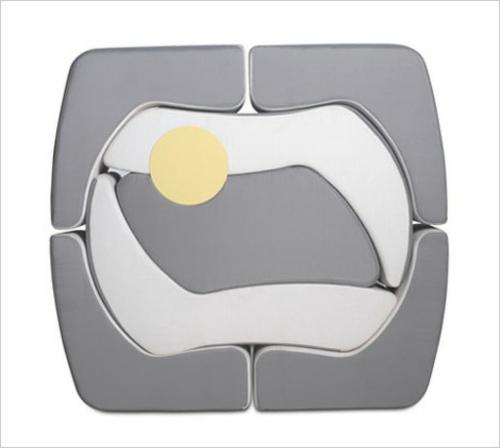stapelbares puzzle außenmöbelstück design konzept