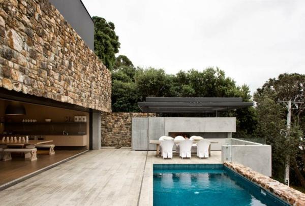 Gestalten Sie Steinwand Interieur Design Im Landhausstil Essbereich Gestalten Steinwand