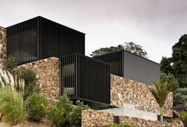 Gestalten sie steinwand interieur design im landhausstil