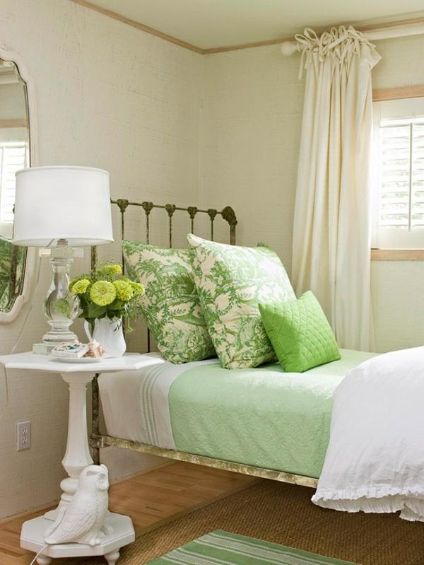 stilvoll dekoration bettbezug hellgrün
