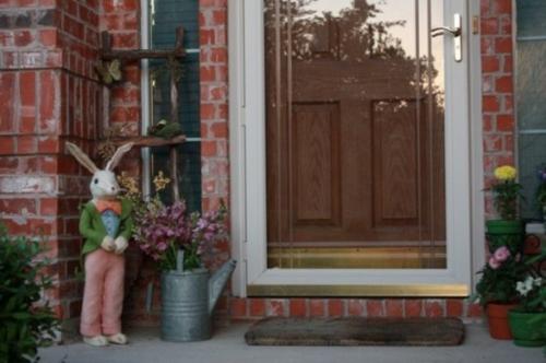 stilvoll osterhase coole veranda deko ideen zu ostern originell