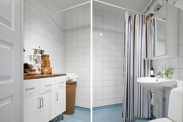 stilvolle einrichtung apartment weiß göteborg bad