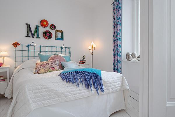 stilvolle einrichtung apartment weiß göteborg decke zimmer bett