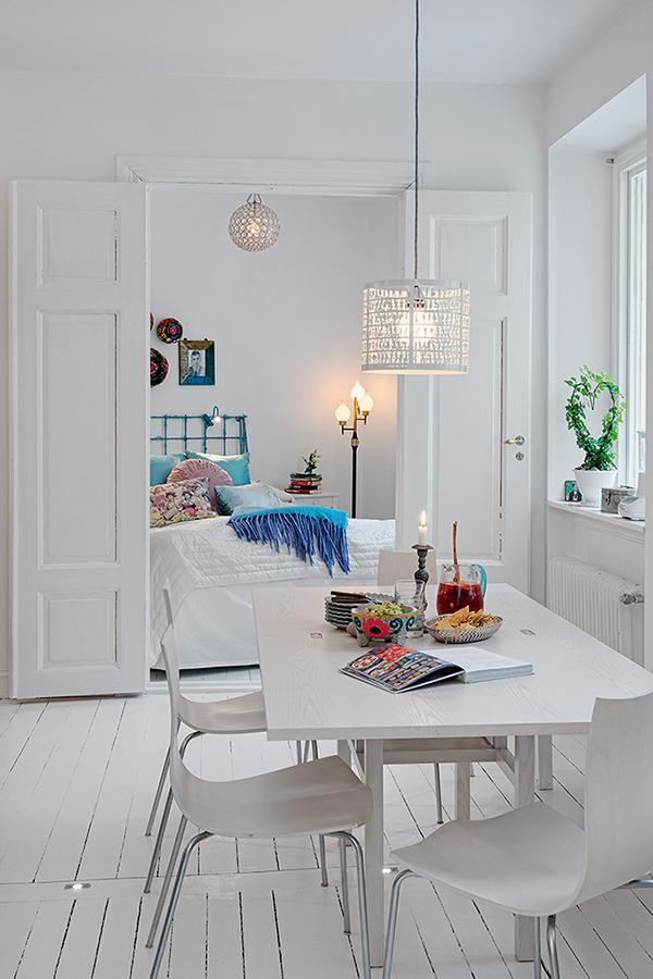 stilvolle einrichtung apartment weiß göteborg schlafzimmer