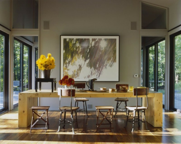 stilvolles haus design 16 türen new york holz einrichtung tisch