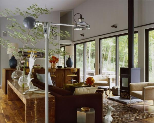 stilvolles haus design 16 türen new york wohnraum sofa