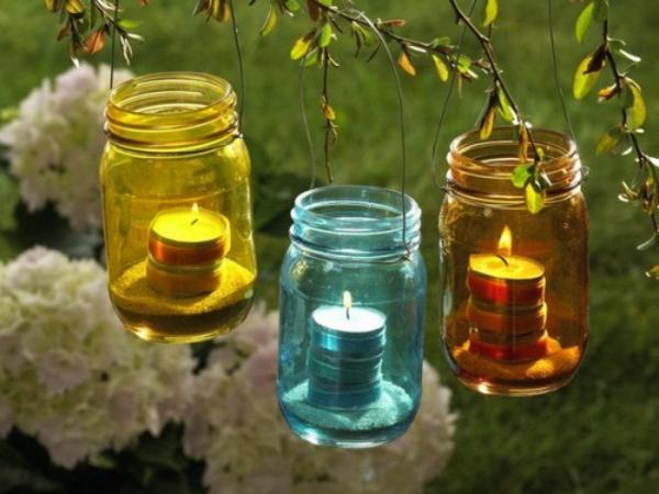 teelichter bunte gläser deko
