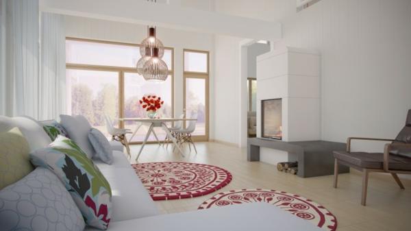 design : wohnzimmer rot weiß ~ inspirierende bilder von wohnzimmer ...