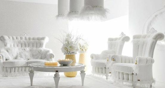 Tiffany Altamoda Wohnzimmer Möbel Weiß Gepolstert Sesel Sofa Luxus ...