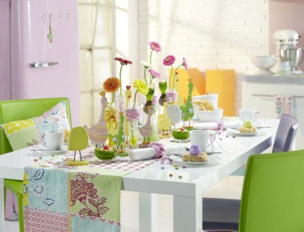 Tischdeko frühling grün  Erstaunliche Frühlingsdekoration - frische und nützliche Ideen