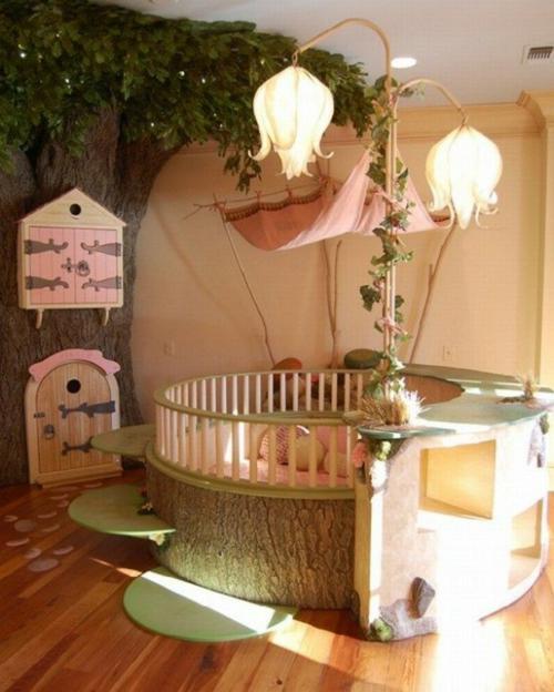 Einzigartiges märchenhaftes kinderzimmer design von der natur