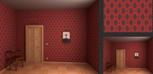attraktiv extravagant idee tapeten rautenförmig rot schwarz idee