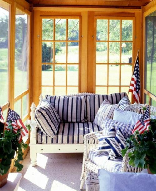 veranda deko ideen frühling sonnenterrasse amerikanisch