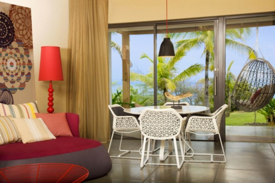 vieques insel spa hotel   rot palmen einrichtung