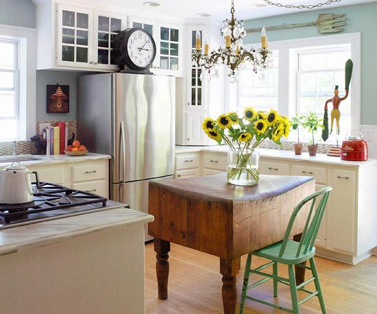 vintage altmodisch küchendesign sonnenblume