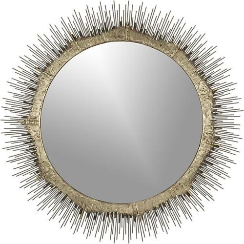 wand sonne spiegel design crate-barrel rund