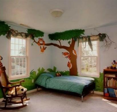 Lustige Dschungel Dekoration im Kinderzimmer – 15 schöne Beispiele | {Schöne kinderzimmer 36}
