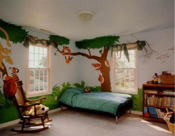 wanddekoration kinderzimmer dschungel - Wandbemalung Kinderzimmer