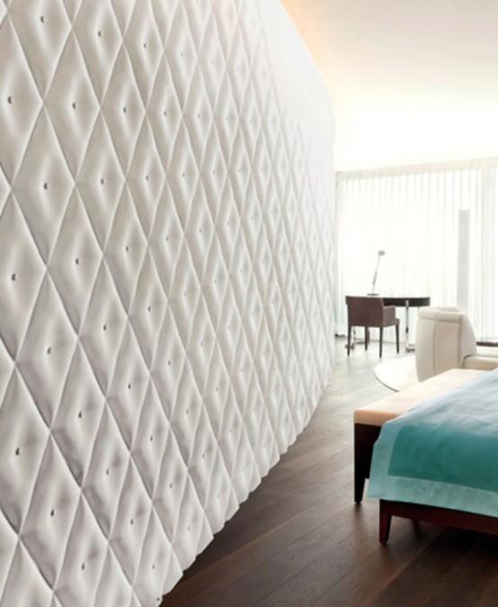 wandpaneele-3D еffekt weiß edel geometrische formen schlicht