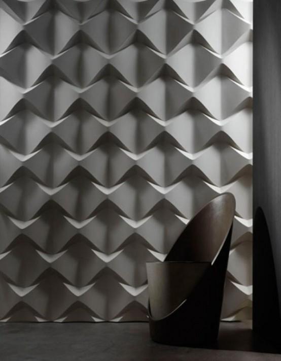 wandpaneele - 3D abstrakt effekt´weiß minimalistisch schlicht geometrische formen