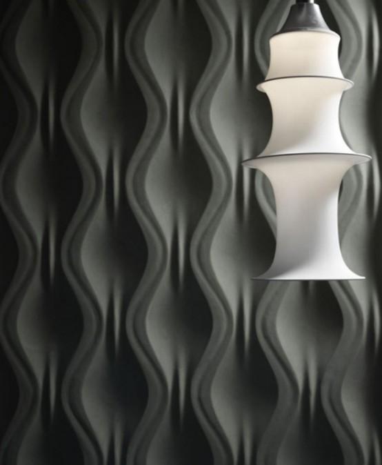 wandpaneele - 3D effekt weiß minimalistisch schlicht geometrische formen licht