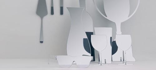 wandspiegel design gegenstände formen domestic