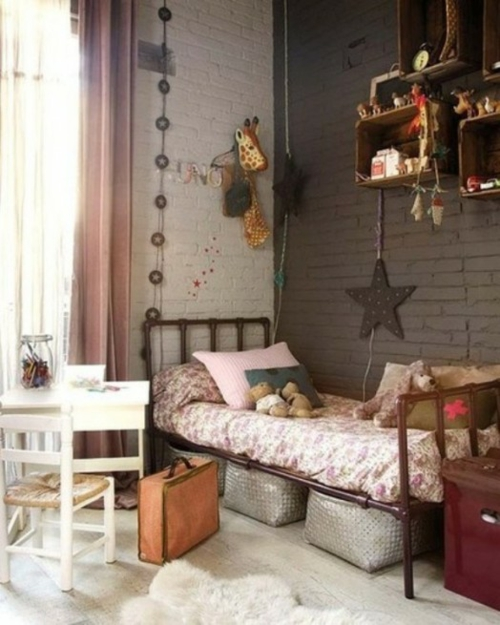 11 behagliche, industrielle Kinderzimmer Design Ideen