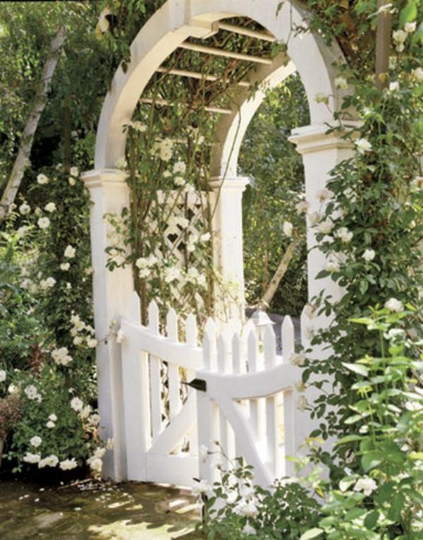 Zauberhafte Rosenbögen Im Garten 21 Tolle Vorschläge