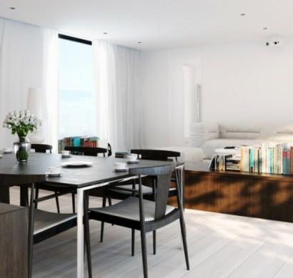 wei e dekoration im speiseraum stilvolle und extravagante ideen. Black Bedroom Furniture Sets. Home Design Ideas