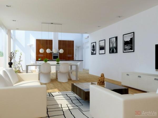 Attraktive Kombination von Wohn- und Esszimmer