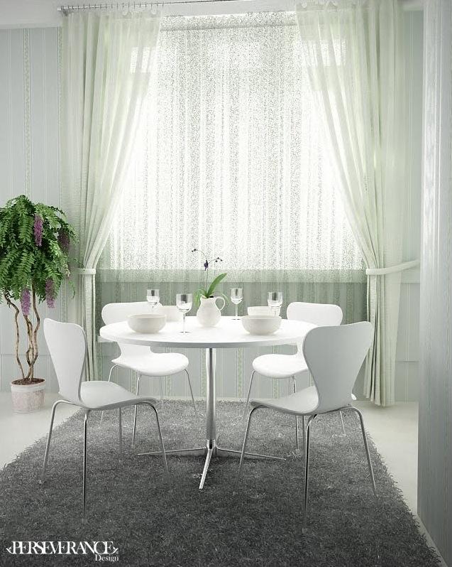 weiße möbel im esszimmer