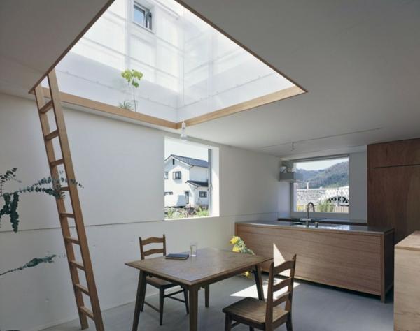 weiße durchsichtige baukonstruktion asia design küche