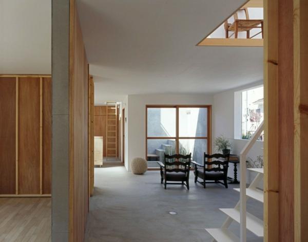 Weißes, transparentes Haus asien design lehnstühle