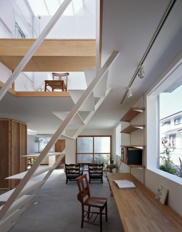 Weißes, transparentes Haus asien design schreibtisch