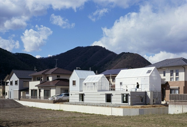 Weißes, transparentes Haus asien hütten