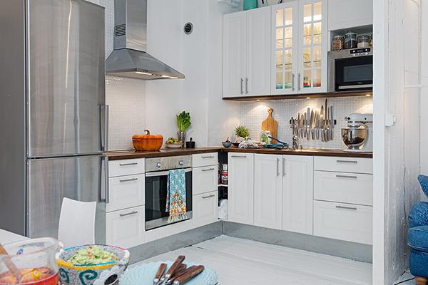 wertvolle wohnung weiß shabby chic göteborg küche