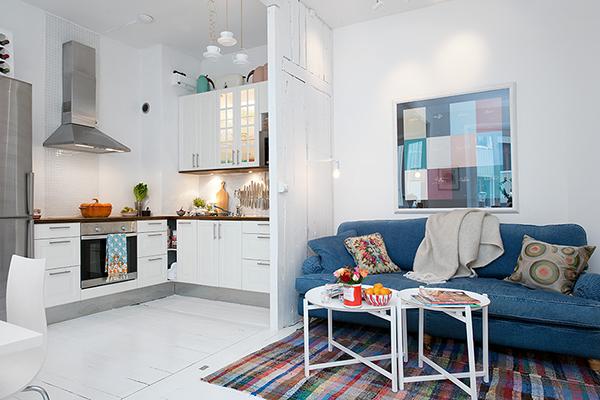 wertvolle wohnung weiß shabby chic göteborg sofa küche wohnecke