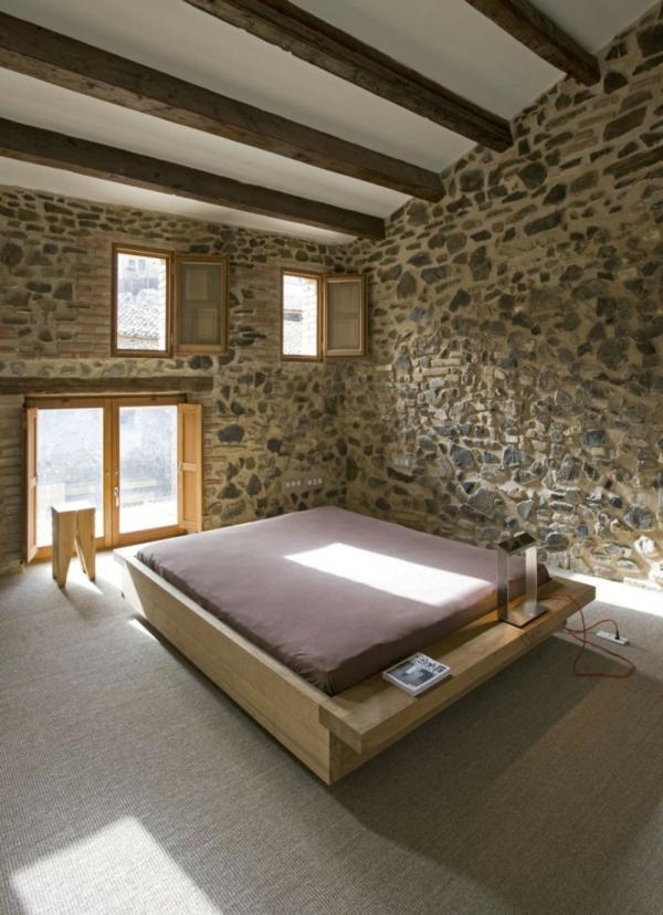 Haus design raue steinwände