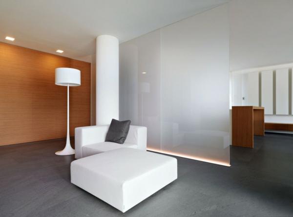 wohnraum design weiß ausstattung