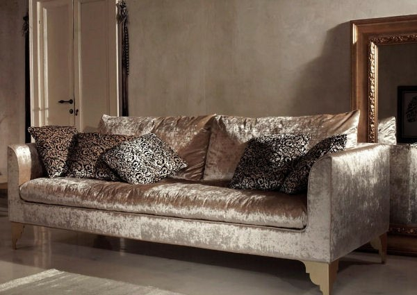 wohnzimmer design prachtvolles plüschsofa