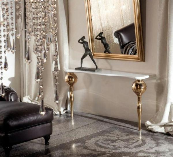 wohnzimmer designstilvoll spiegel