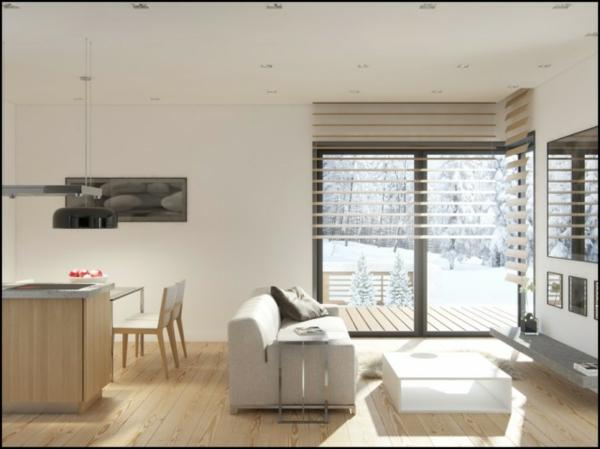 wohnzimmer und esszimmer ideen: und schwarz-weiße Bilder. Kleinerer ...