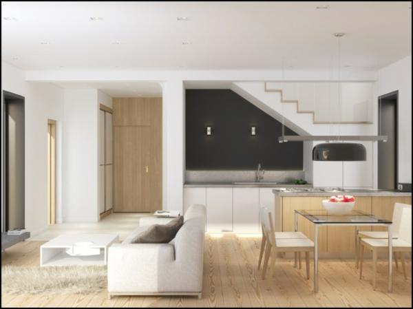 wohnzimmer und kuche in einem kleinen raum: wohnsinniges die quot, Hause ideen