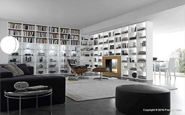 designer regale von presotto italia - moderne wohnzimmer interiors, Wohnzimmer