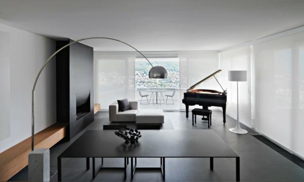 wohzimmer minimalistischer stil