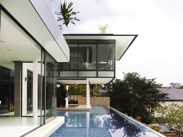 architektonisches element singapur entspannung außendesign